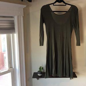 EXPRESS 3/4 sleeve dress low cut back flowy